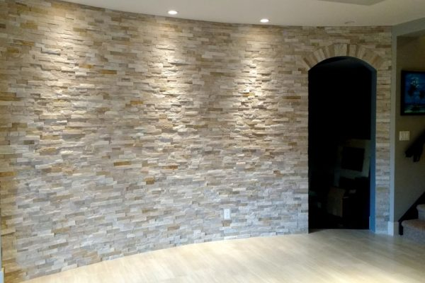 Curved Basement Wall