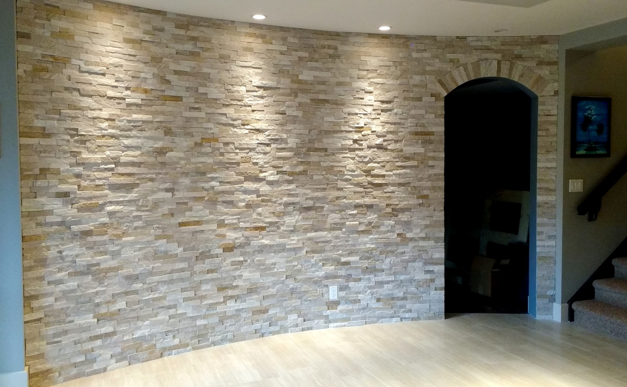 Curved Basement Wall - Ecostone Products