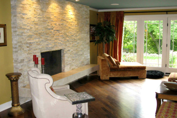 Elegant Natural Stone Fireplace