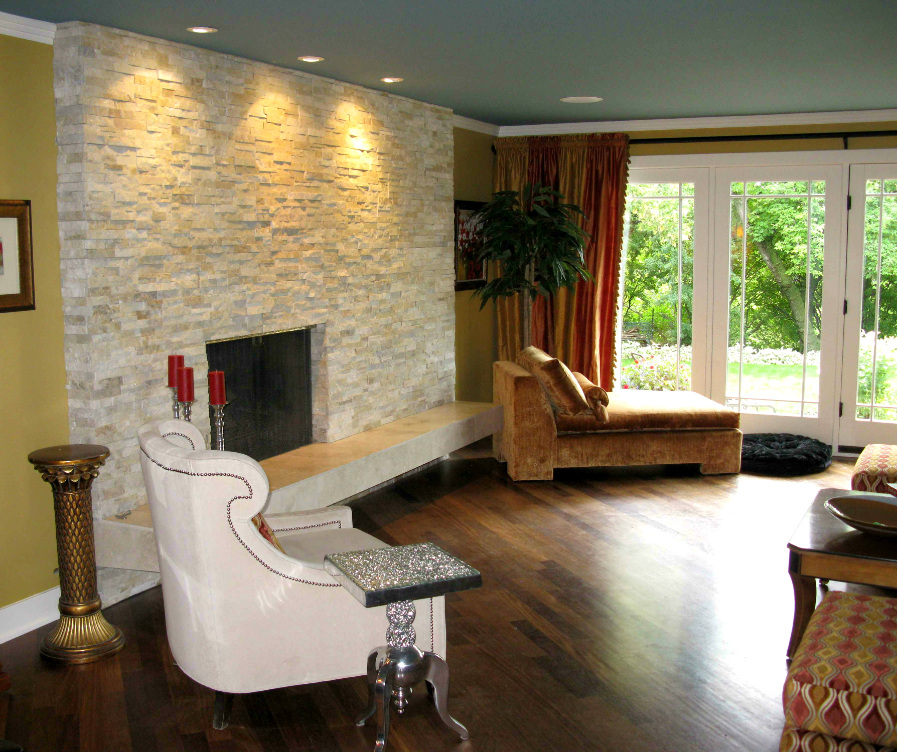 Elegant Natural Stone Fireplace - Ecostone Products