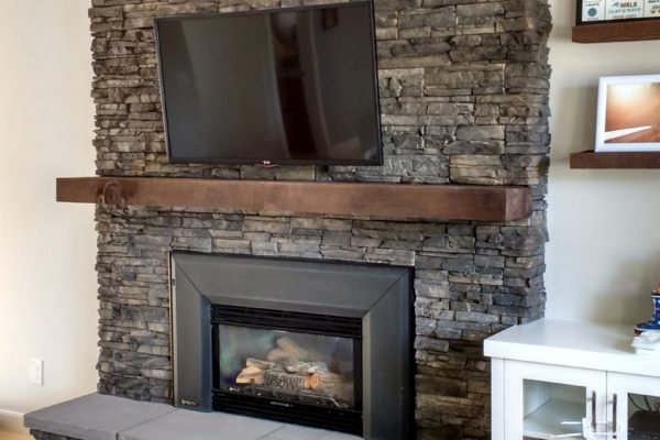 Fireplace with Hearth (Brick cover up)