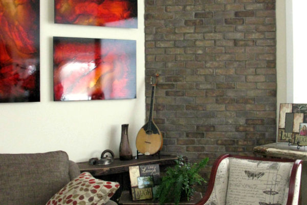 Living Room Brick Wall Feature