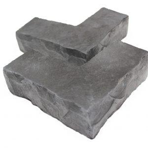 Corner sills sculpted silver grey smaller