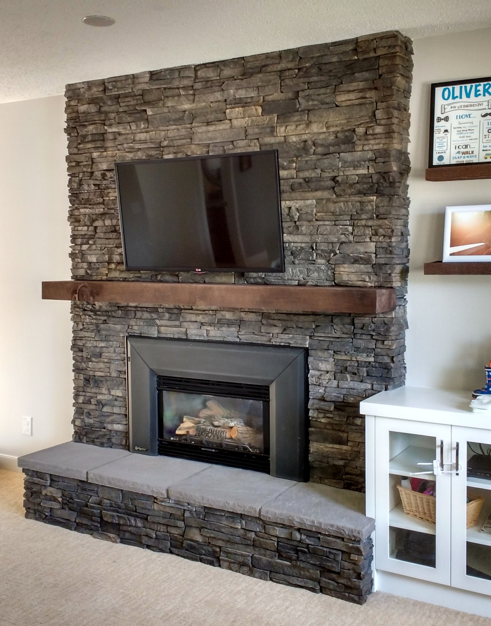 Fireplace With Hearth Brick Cover Up Ecostone Products